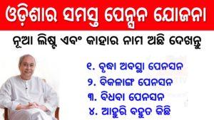 Odisha All Pension Scheme Beneficiary List 2020-21