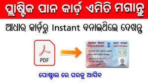 How to Reprint Pan Card - Apply physical Pan Card